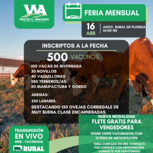 16 de Abril - Asociación Rural de Florida