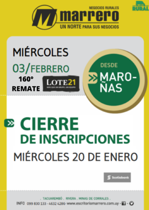 160° Remate Lote 21
