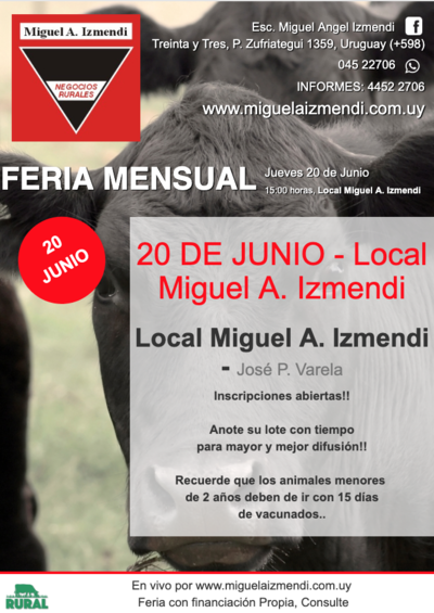 Afiche 20 DE JUNIO - Local Miguel A. Izmendi